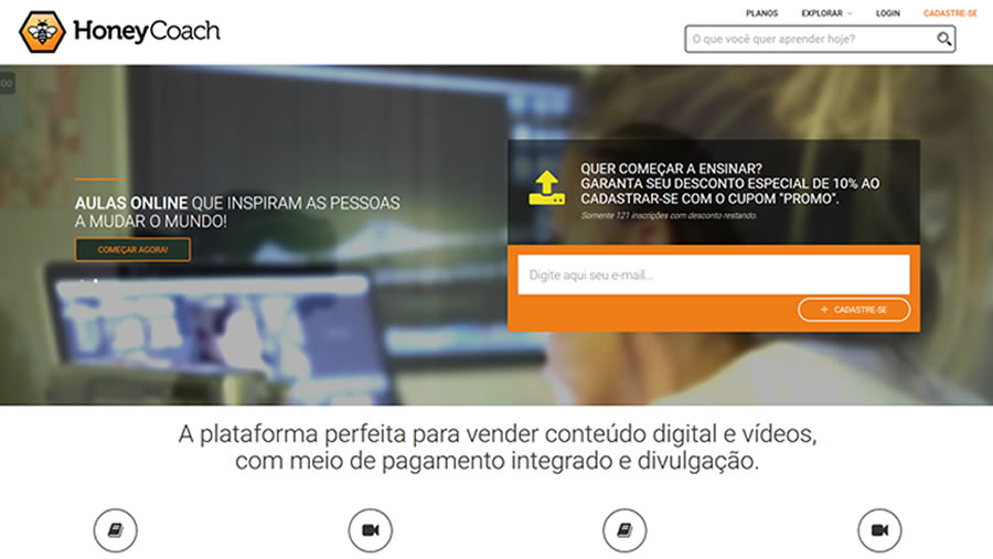 Plataforma de Ensino à Distância para Vídeos e Cursos - Home